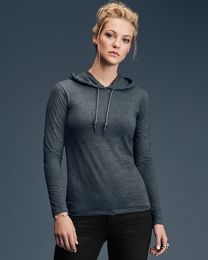 Ladies L/S Hooded Tee