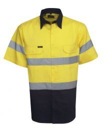 Hi Vis Day/Night Short Sleeve Cotton Drill Shirt