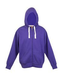 Mens Brushed Heavy Zip Fleece Hoodie