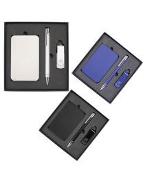 Gift Set with Charger 4Gb Lacquered Rotate Flash Drive & Hawk Pen
