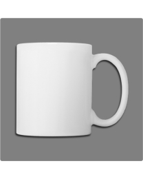 11 Oz Ceramic White Mug