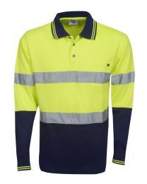 Hi Vis Day/Night Cooldry Long Sleeve Polo