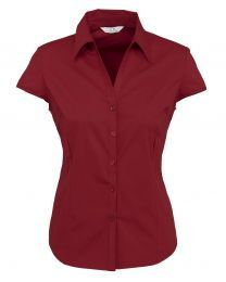 Ladies Metro Cap Sleeve Shirt