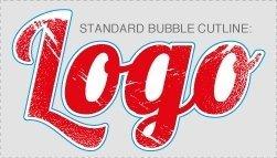 Unweeded bubble cutline for full-colour digital transfer artwork
